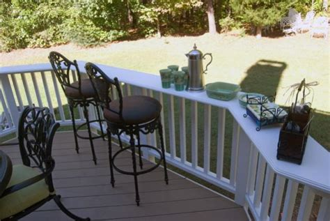 top deck bar easy rail bar tops decks fencing contractor talk