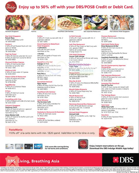 50 Percent Off Gift Cards - 50 percent off with dbs posb cards list of outlets 187 dbs posb up to 50 off dining