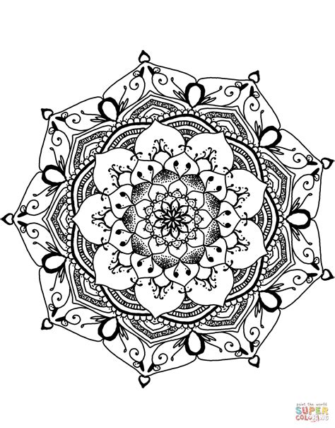 mandala coloring pages of flowers flower mandala coloring page free printable coloring pages