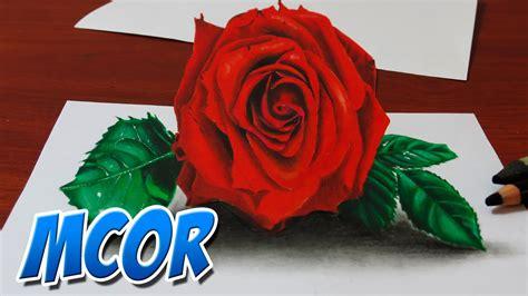 imagenes de flores 3d en uñas como dibujar una rosa con efecto 3d youtube