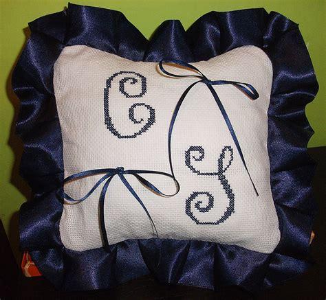 cuscino nascita punto croce cuscino fedi ricamato cuscinetto portafedi punto croce