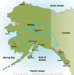 maps of alaska and canada