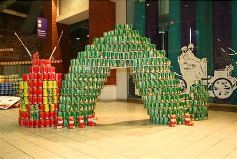 simple canstruction ideas can sculpture john deere is attempting a worldrecord at a