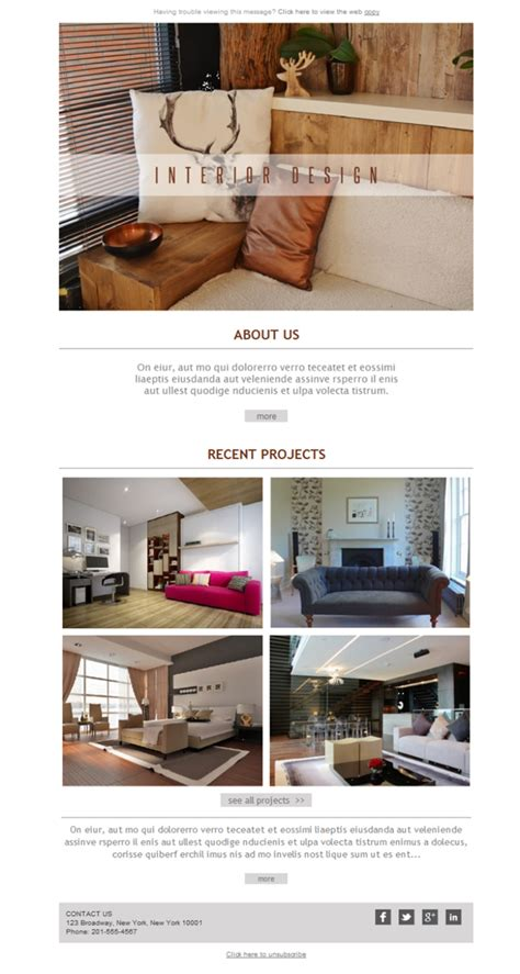 Interior Design Email Templates Free Email Templates Download Design Interior Design Co