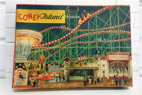 roller coaster tales of 1960 s coney island books technofix west germany length 54 cm plastic tin