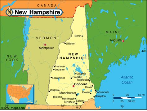 us map states new hshire new hshire political map