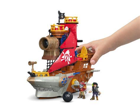 amazon toys amazon com fisher price imaginext shark bite pirate ship