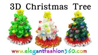 rainbow loom christmas tree 3d and skirt charm holiday