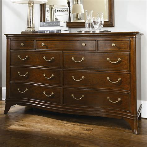 cherry triple dresser bedroom american drew cherry grove new generation triple 9 drawer