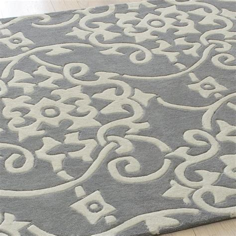 grey medallion rug scrolled medallion rug