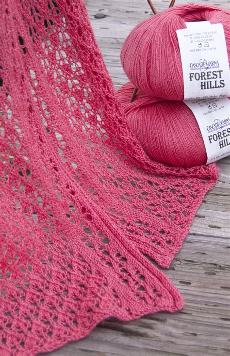 free patterns yarn free pattern highlight cascade yarns forest hills lace