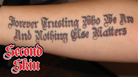 lyrics metallica tattoo edmonton