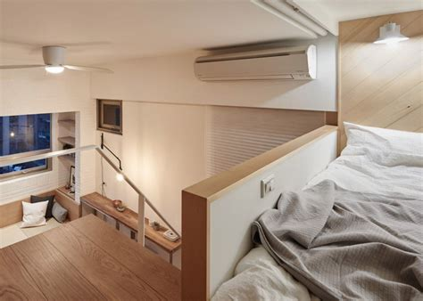 8 square meters in dit kleine appartement van 22m2 hebben ze de slaapkamer