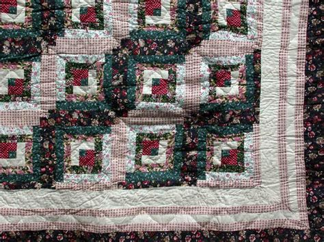 Quilt Traditions by Flower Patch Log Cabin Quilt For Country Or Cottage Home