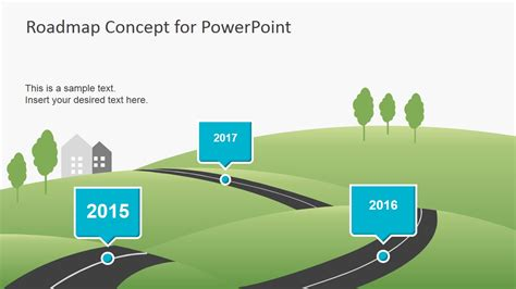 6956 01 Roadmap Concept For Powerpoint 4 Slidemodel Microsoft Powerpoint Templates Road