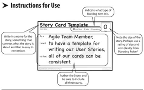 scrum story cards template agile story card templates solutionsiq