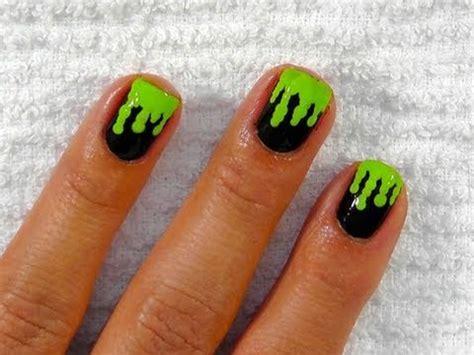 slime nail tutorial green slime nails youtube
