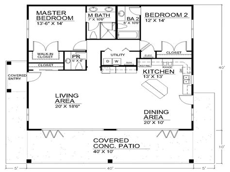 One Story Floor Plan Single Story Open Floor Plans Open Floor Plan House Designs 40x40 House Plans Mexzhouse
