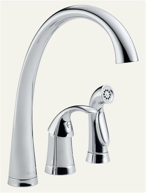 amazon delta kitchen faucets delta faucet 4380 dst pilar single handle kitchen faucet