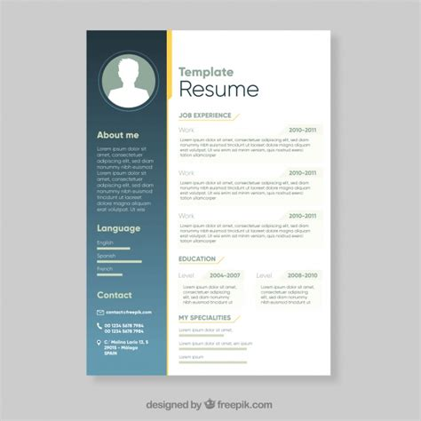 template resume freepik resume vectors photos and psd files free