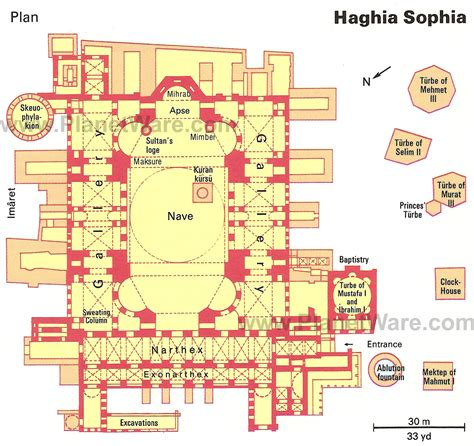 floor plan of hagia sophia istanbul ayasofya floor plan map travel pinterest