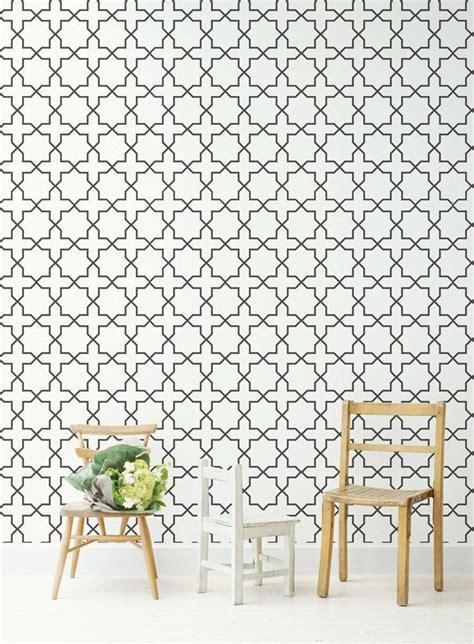 moroccan wallpaper pinterest delicate interior black and white moroccan wallpaper