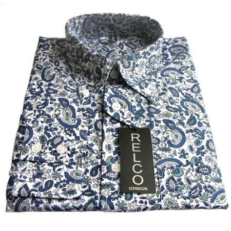 pattern shirt man shirts men uk shirt blue paisley pattern men s classic