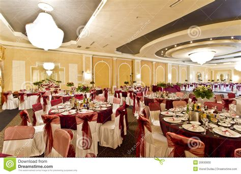 How To Cover Dining Room Chairs wedding reception hall stock photo image 20630830