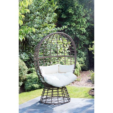egg patio furniture b m roma swivel egg chair garden furniture