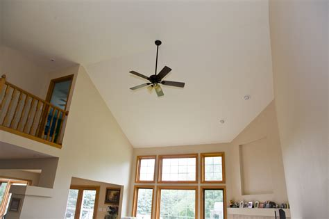 ceiling fans for sloped ceilings vaulted ceiling fan installed by smart accessible living
