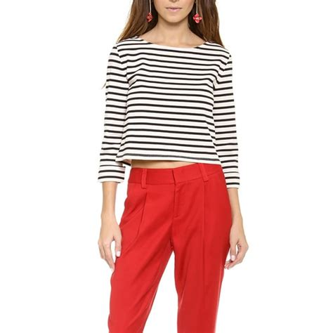ranking the best boxy alice olivia rolled sleeve boxy crop top rank style