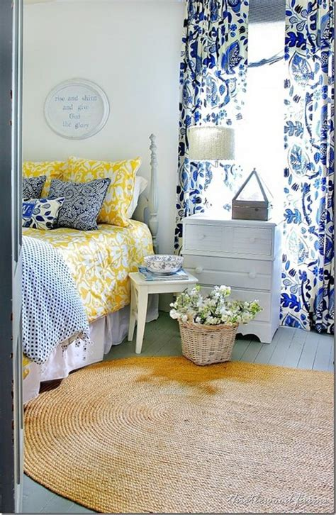 blue and yellow bedroom blue and yellow farmhouse bedroom guest rooms yellow