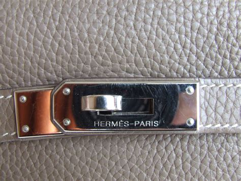 authentic hermes 32 bag etoupe togo leather silver