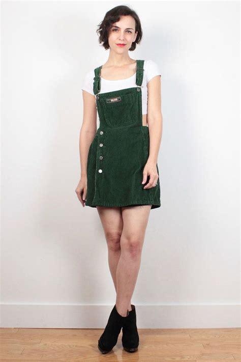 Amanda Overall Skirt vintage soft grunge overalls romper 1990s green