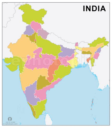 India Outline Map Coloured by India Map Junglekey In Image 100