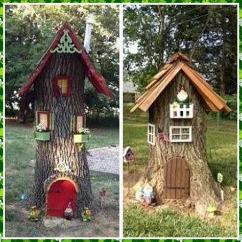 gnome in front yard gnome houses made from tree stumps gardening