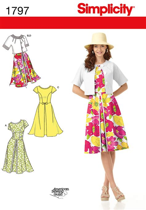 pattern sewing simplicity simplicity 1797 misses dresses and jacket