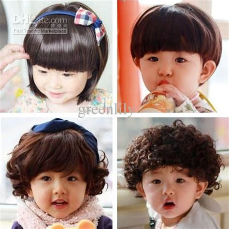 hairstyles for girl baby with short hair best brand new korean style children s wigs baby wig short
