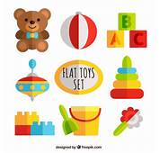 Flat Toys Set Vector  Free Download