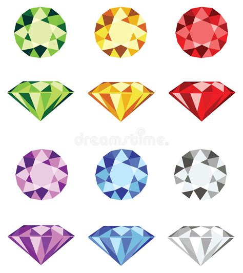 Home Design How To Get Free Gems by Gemstones Cut Vector Stock Vector Illustration