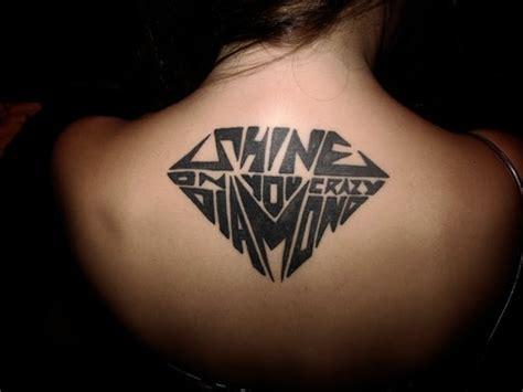 tattoo diamond on back hannikate designs of diamond tattoos meaning