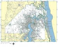 jacksonville florida map with zip codes jacksonville digital vector maps editable