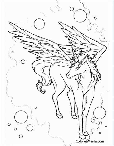 imagenes unicornios para dibujar colorear pegaso unicornio entre burbujas animales