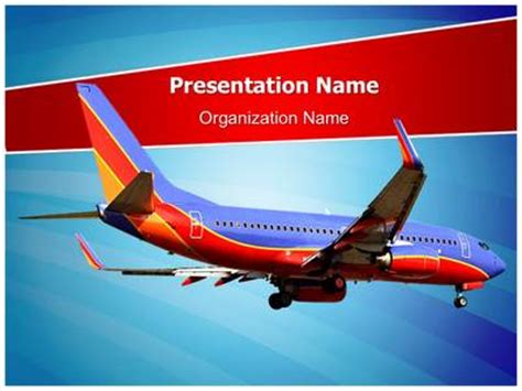 Southwest Airlines Powerpoint Template Is One Of The Best Airline Powerpoint Templates