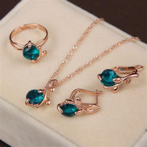 Set Perhiasan Eropah Jumbo 1 Aliexpress Buy Fashion Wedding Accessories Gold
