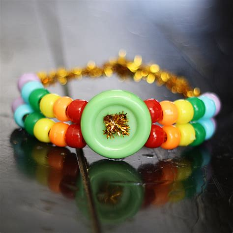 Rainbow Pony Bead Bracelet   Crafts by Amanda