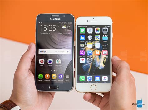 apple iphone 6s vs samsung galaxy s6 call quality battery and conclusion phonearena
