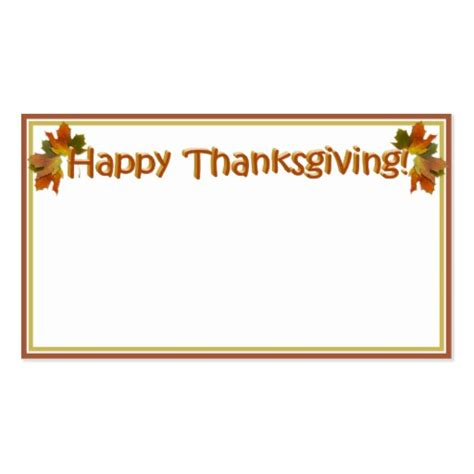 happy thanksgiving card template fall seasons best happy thanksgiving text sided