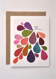 Best Gift For My Husband On His Birthday by Thank You Card Handmade Greeting Card Abstract Mod Fall