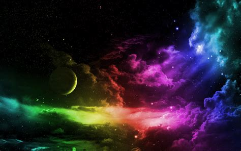 Colorful Moon Wallpaper | 20 hd rainbow background images and wallpapers free